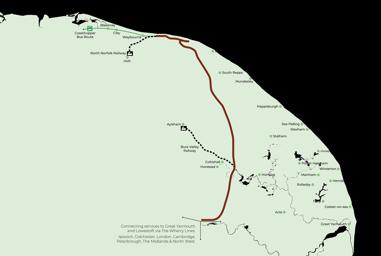 Bittern Line Map