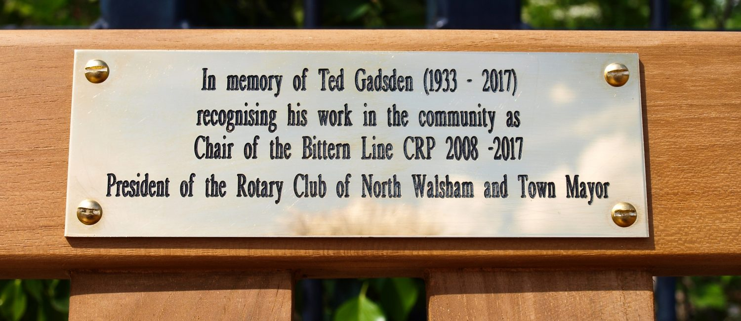 Memorial Bench Unveiling Ride The Bittern Line